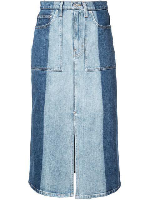 5dbf81aeb6f785 Proenza Schouler PSWL 2-Tone Denim Skirt in 2019