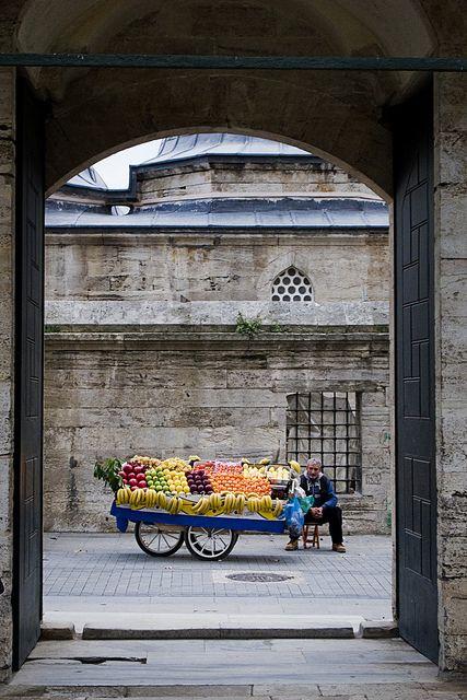 Istanbul fruit vendor