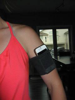 DIY iphone armband, easy, washable, comfortable. Great for running and working out!!!
