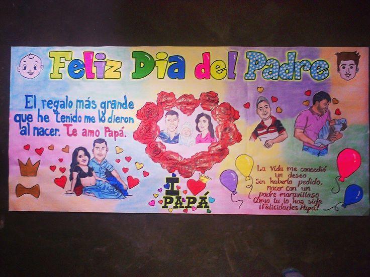 Hermosa pancarta del dia del padre  Whatsapp: 0414-9758612 #diadelpadre #pancartas #felizdia  #papa