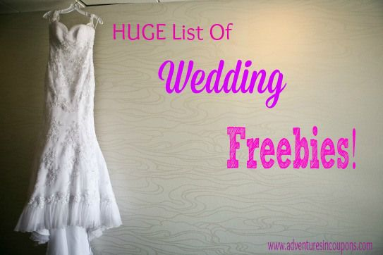Getting #Married? This *HUGE* list of #Wedding freebies will help you save money on your big day!