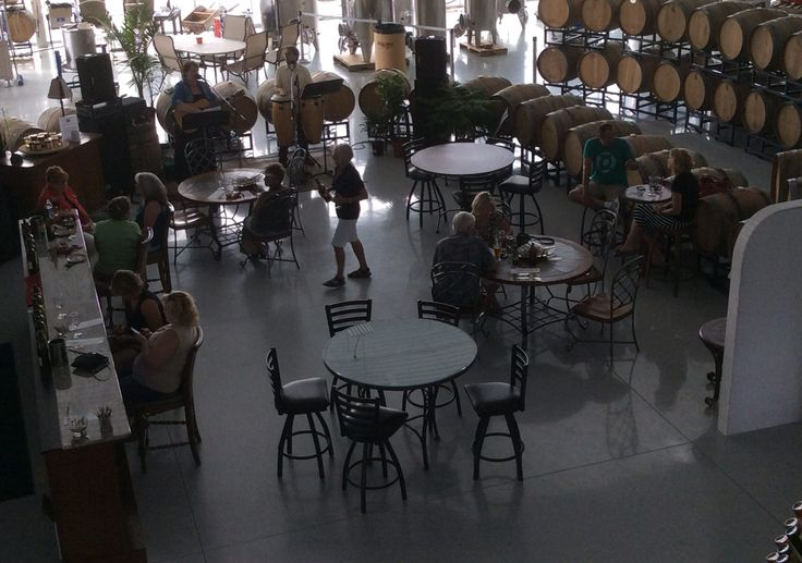 Red Oak Winery in Sturgeon Bay, Wisconsin. On certain days there is live music to be heard while you are tasting.