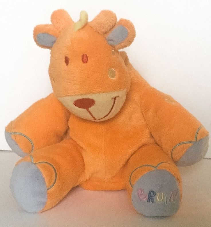 Bruin Giraffe Lovey Plush Stuffed Animal Baby Toy Orange Blue Rare Toys R Us #Bruin