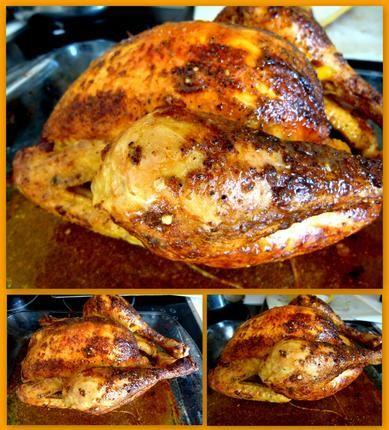 Poulet+rôti+comme+en+rotisserie+(à+la+moutarde+et+à+l'ail)