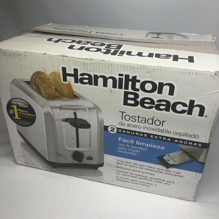 Hamilton Beach Brushed Stainless Steel 2 Slice Toaster 22910 Toasters Ideas Of Toasters Toasters Toaster Cuisinart Toaster Stainless Steel