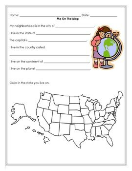 (FREEBIE) Me on the Map activity book and quiz. The last two pages can be a quiz to check if they learned the information from the books they make. I turned the first 10 pages to a mini-book on our copier.