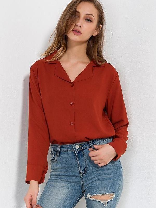 56ffcab479ef Chemise marron basique nistie.com -  mode  fashion  lookoftheday  outfits   nistie - Mode femme tendance inspiration printemps été 2018 idée tenue  vêtements ...