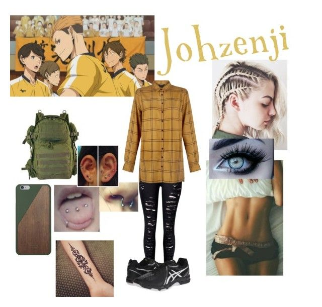 Haikyuu/Johzenji by erenshi03 on Polyvore featuring polyvore New Look WithChic Native Union Asics fashion style clothing