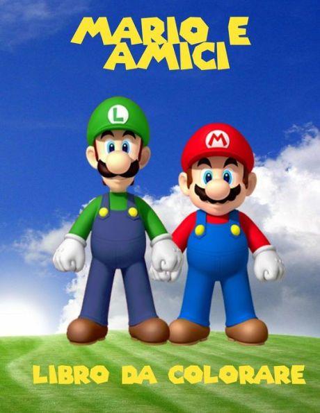 Mario e amici colorazione libro: un libro da colorare grande per le pagine di bambini 40 di divertim