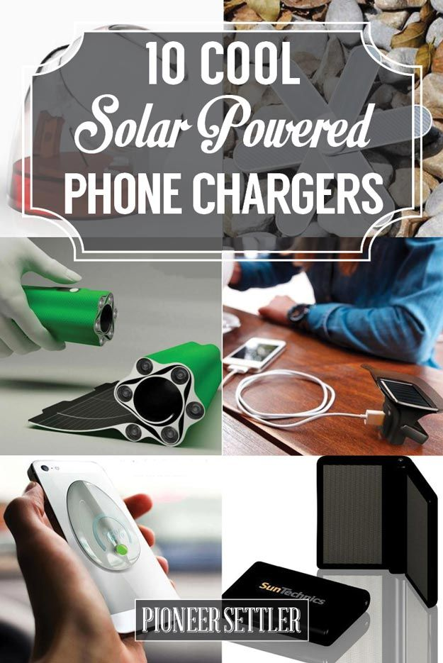 Check Out The Coolest Solar Powered Phone Chargers of the Future at http://pioneersettler.com/coolest-solar-powered-phone-chargers-future/
