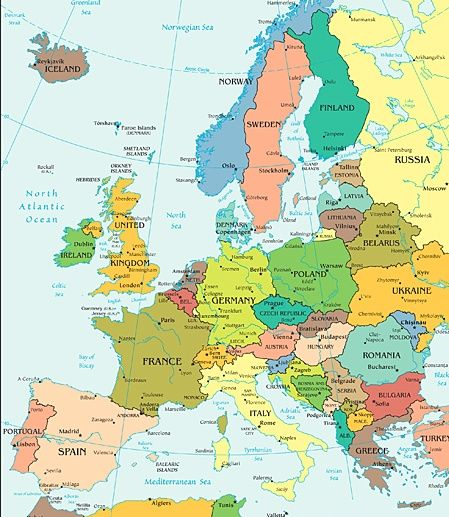 Map Of Europe Maps Pinterest Maps Search And
