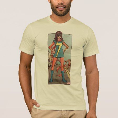 Ms. Marvel Standing In Street T-Shirt - tap, personalize, buy right now!