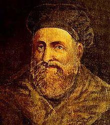 Gabriele Falloppio (Módena, 1523- Padua, 1562). Anatomista italiano de la cabeza, del oído interno y del tímpano, descubrió el caracol auditivo (cóclea) en 1561 y dio nombre al conducto del nervio facial (acueducto de Fallopio).