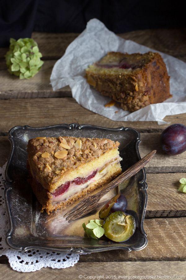 Every Cake You Bake: Ciasto ze śliwkami, budyniem i podwójną kruszonką