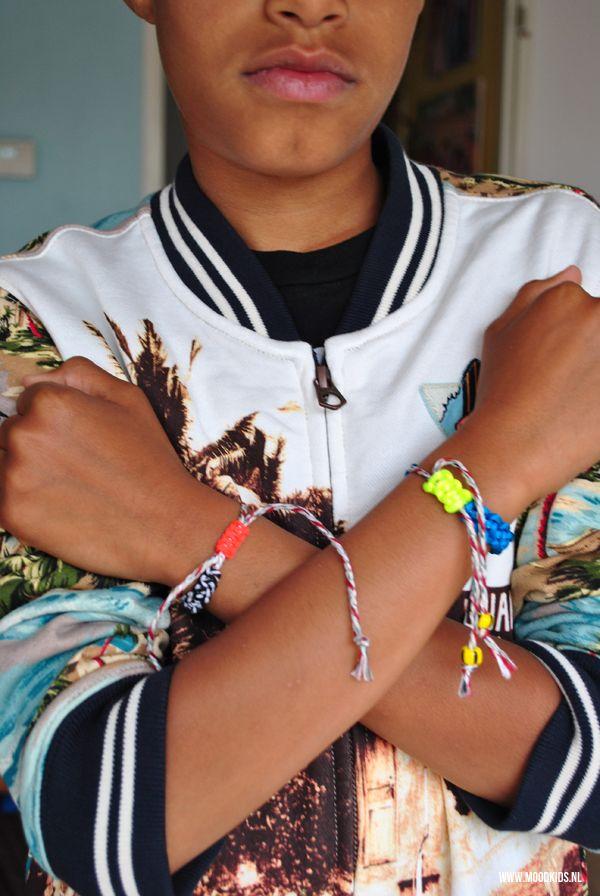 jongens armband zelf maken, armband jongens