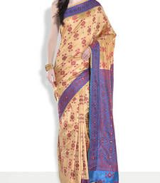 Buy Blue hand_woven handloom saree with blouse handloom-saree online