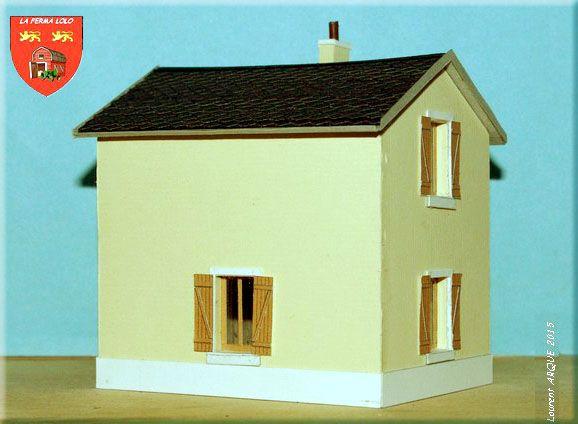Une maison de garde-barrière pour le module du0027exposition HO