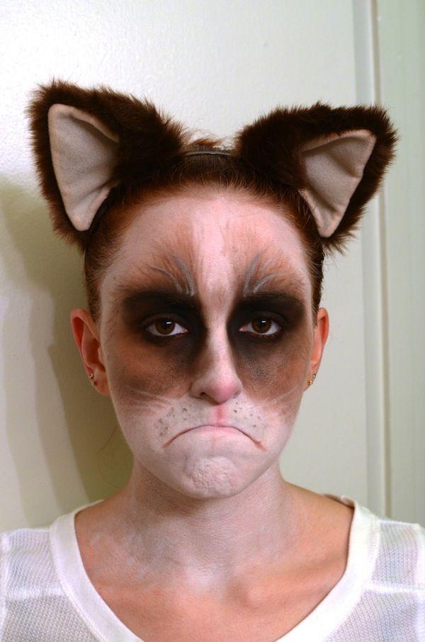 10 More Incredible Halloween Makeup Transformations - My Modern Metropolis  Grumpy cat