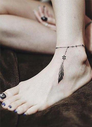 Sutiles Y Sencillos Tatuajes En Tobillos Para Mujer Tatuajes Para