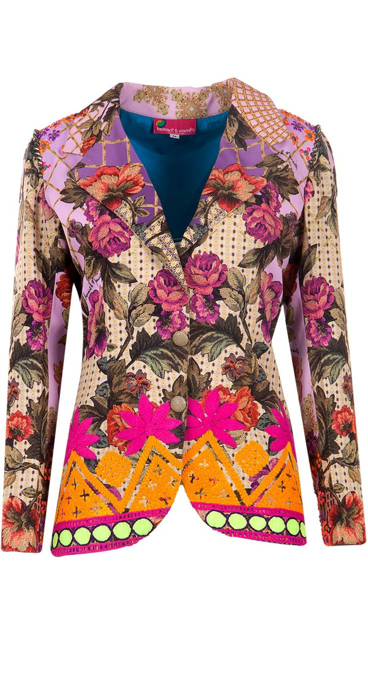 Purple mat print blazer available only at Pernia's Pop-Up Shop.