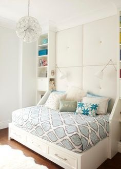 a king headboard with a full bed turned sideways - Google Search