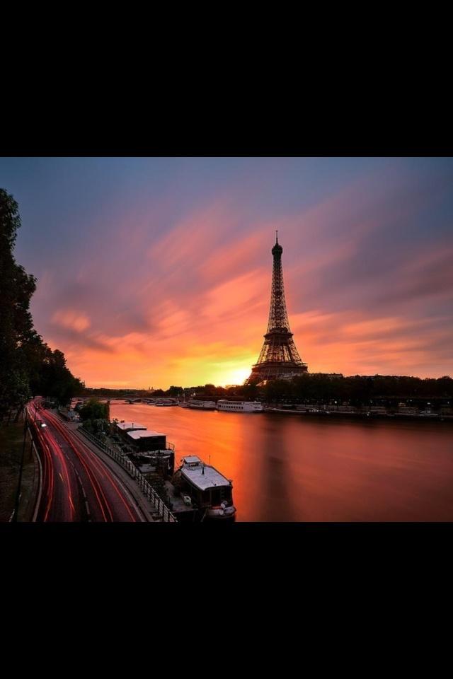Parijs, zonsopgang!