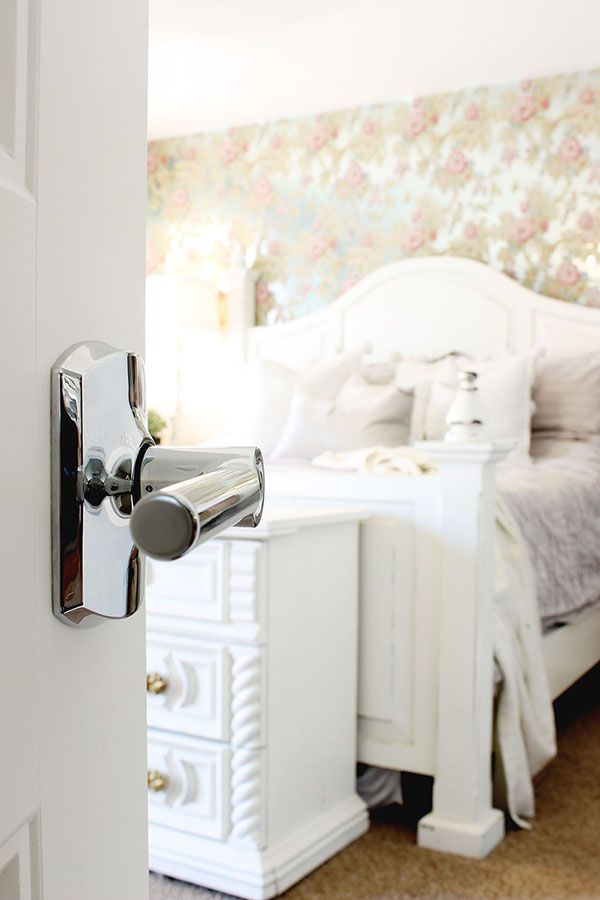 How to install a door knob the home depot door knobs - Installing a lock on a bedroom door ...