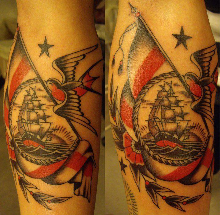 .: Tattoo Ideas, Tattoo Too, Flags, Tattoo Shops, Dagger Tattoo, Ships, Traditional Tattoo, Sweet Tattoo, Bodyart
