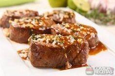 Receita de Medalhão com molho de alho e tomilho em receitas de carnes, veja essa e outras receitas aqui!