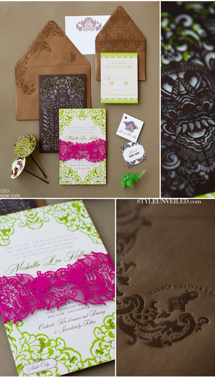 Villa taman sorga wedding invitations