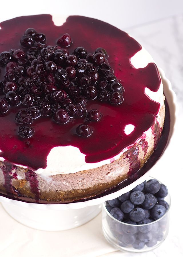 Blueberry Cottage Cheese Cheesecake #ad