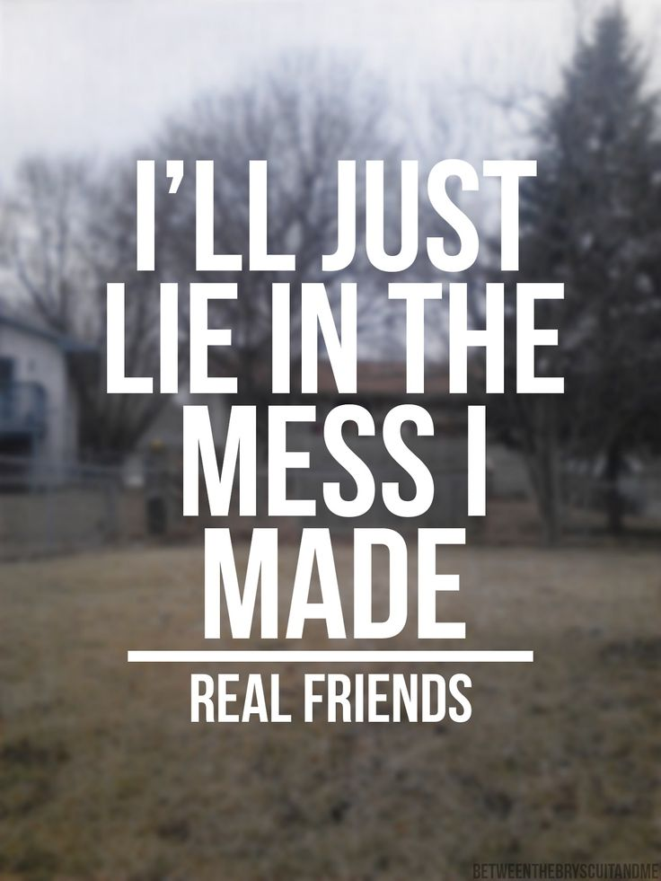 svnbathr:  Real Friends // Floorboards Edit and picture by me.