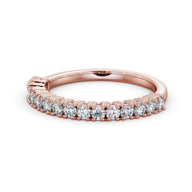 IGI Certificate Round Diamond Prong Half Eternity Wedding