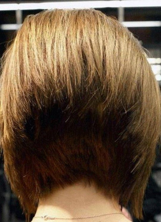 Back View Of 45 Degree Short Wedge Bob Haircut In 2019