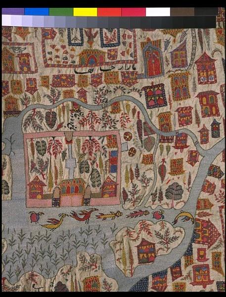 Kashmir map shawl detail