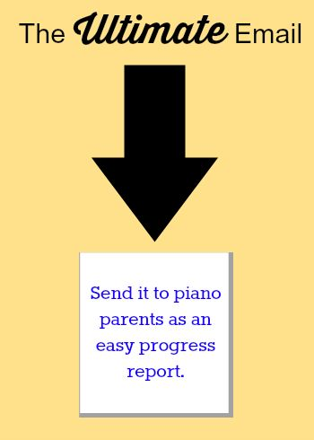 Here's an email you can use as a template to effectively inform piano parents of their child's progress (regularly).