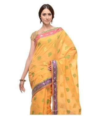 Cotton Blend Saree with Blouse | I found an amazing deal at fashionandyou.com and I bet you'll love it too. Check it out!