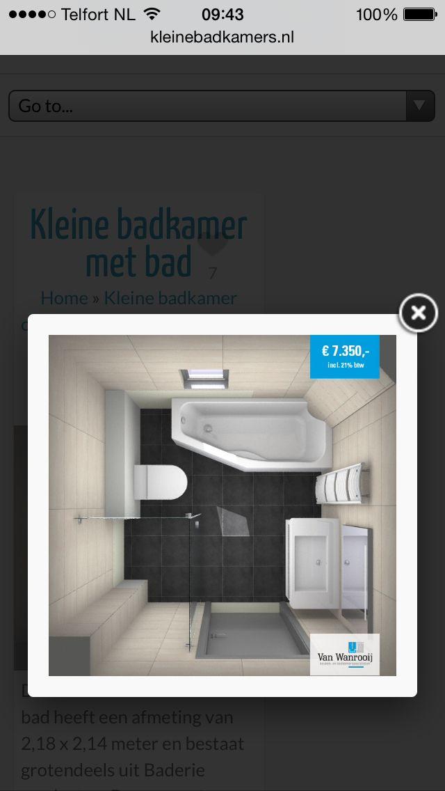Kleine badkamer woning wc badkamer pinterest - Kleine badkamer wc ...