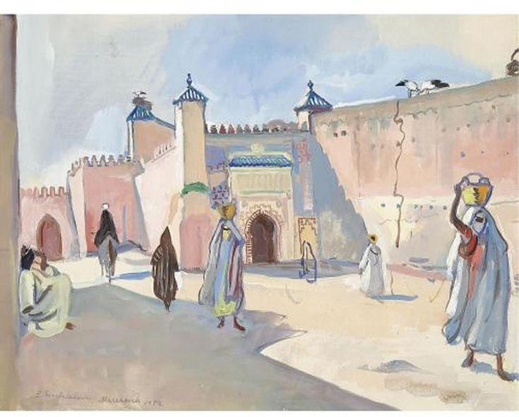 Street in Marrakech, 1932 - Zinaida Serebriakova