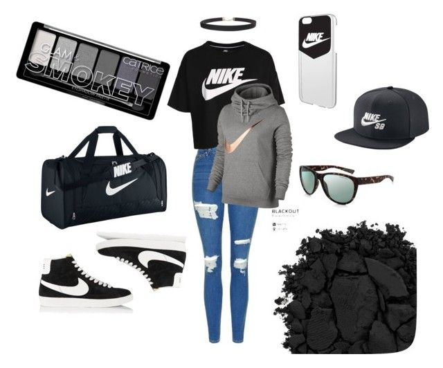 """Nike"" by barathishamalah ❤ liked on Polyvore featuring Topshop, NIKE, Humble Chic and Urban Decay"