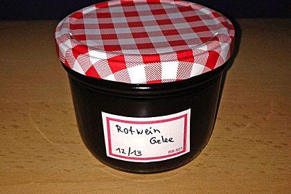 Rotweingelee, ein gutes Rezept aus der Kategorie Frühstück.