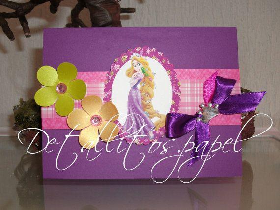 Rapunzel Invitation Princess Invitation Tangled by Detallitospapel