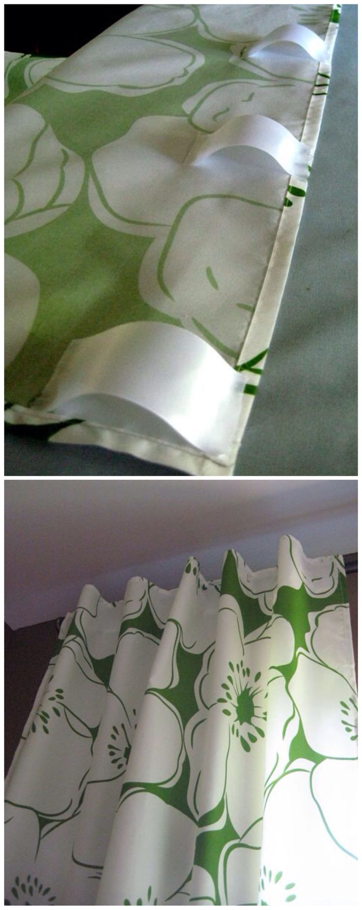 DIY Curtains from a Bed-Sheet.