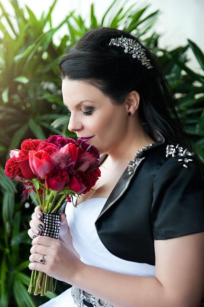 Eighties Heavy Metal Wedding: Jill & Simon