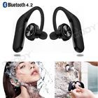 luetooth Headphones Stereo Headset True Wireless Sport Earbuds HIFI Handsfree7  Compatible Wireless Technology - Bluetooth, Connector(s) - Micro USB, Earpiece - Double, Earpiece Design - Ear-Cup (Over the Ear), Fit Design - Ear-Hook, Features - Waterproof, Capacity - 90mAhx2, Talking Time - 10 hours