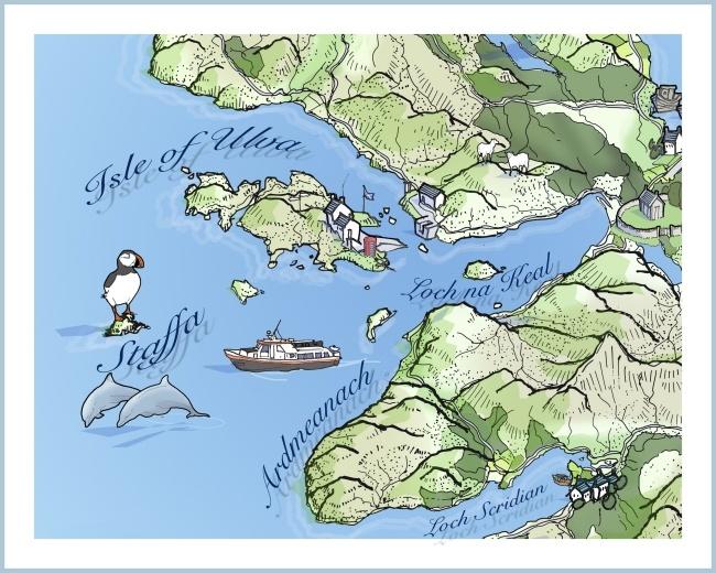 Loch Na Keal map