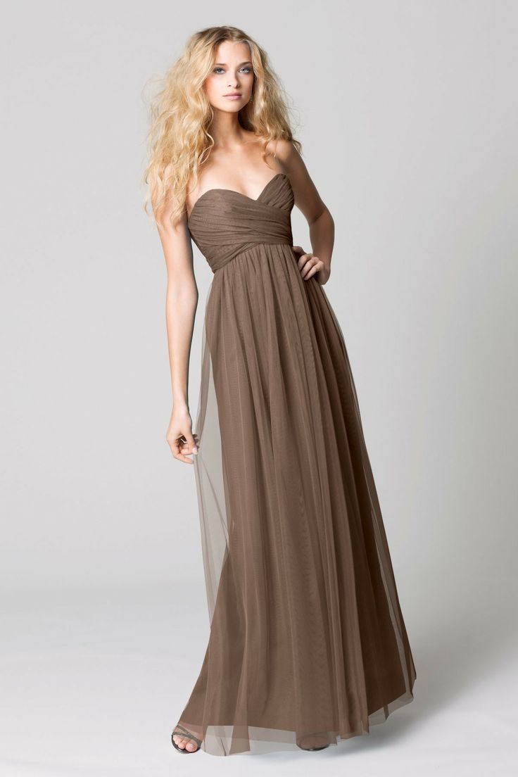 17 best images about brown bridesmaid dresses on pinterest for Brown dresses for wedding