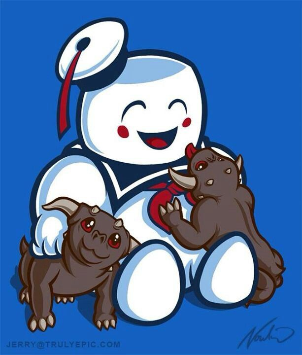 The Stay Puff Marshmallow Man with some friends :)