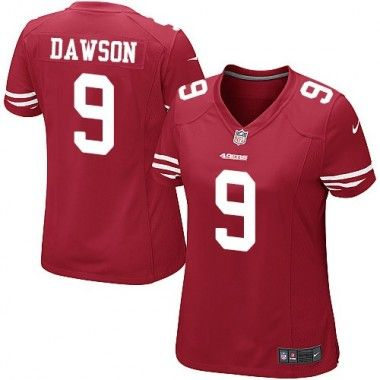 187dee17222 ... Red Phil Dawson Womens Nike NFL Game Jersey Home 9 San Francisco 49ers  ...