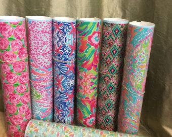 Lilly Pulitzer Vinyl Sheets 8.5 x 11 Pattern by SouthernIdeology